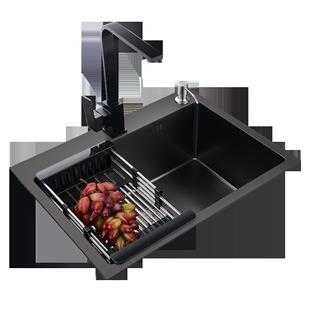 德国304不锈钢厨房纳米单槽洗菜盆