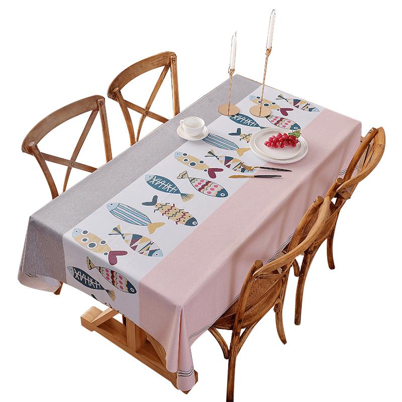 防水防油免洗北欧餐桌布