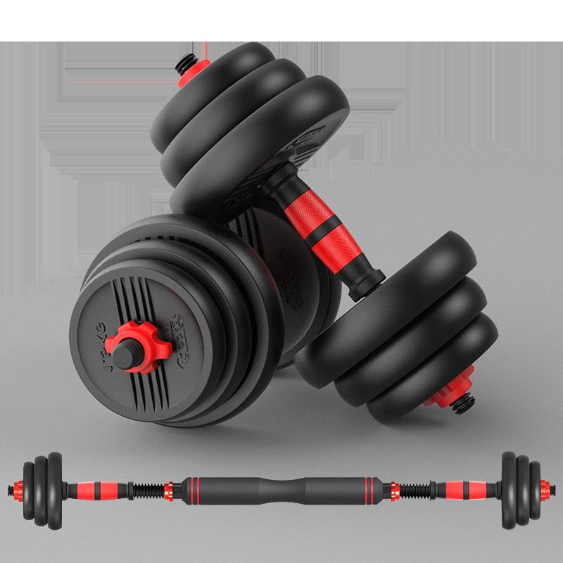 红双喜哑铃男士健身家用壶铃可拆卸环保杠铃组合套装运动器材一对