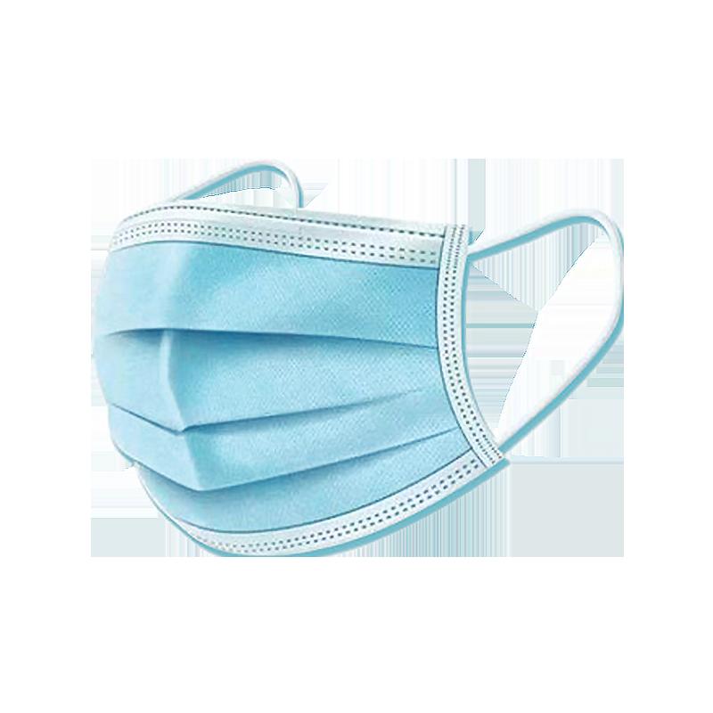 現貨100只一次性三層防護口罩鼻面罩含熔噴層成人兒童防粉塵殊莎