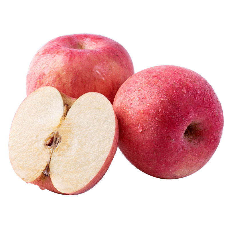 百果园山东烟台富士苹果脆甜多汁