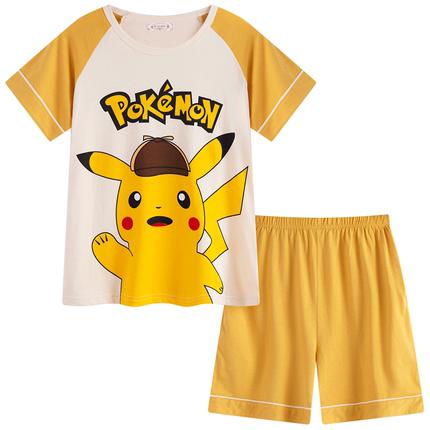 男童夏季短袖纯棉卡通中大童睡衣