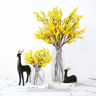 黃色跳舞蘭仿真花束假花家居裝飾乾花花瓶花藝餐桌花客廳插花擺件