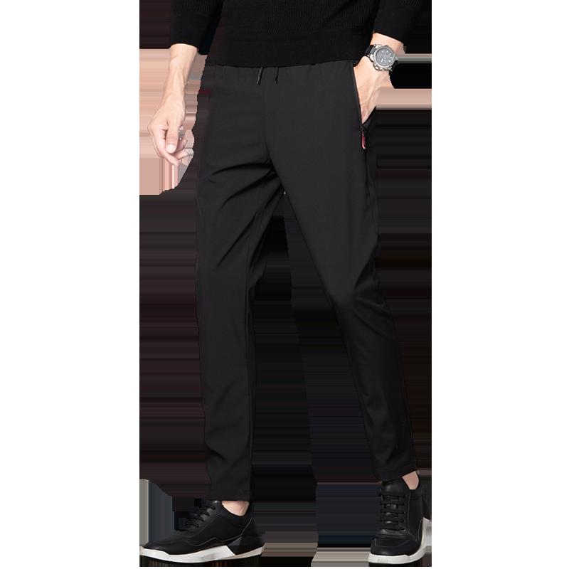 运动裤男士2019秋季潮牌抽绳束脚宽松针织裤休闲裤长裤子加绒卫裤