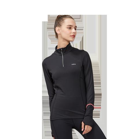 佐纳健身衣女速干透气紧身弹力秋冬瑜伽服套装修身显瘦半拉链T恤