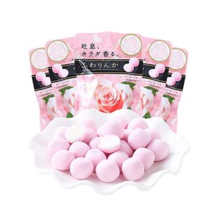 日本進口嘉寶娜香體糖約會糖果口氣清新香玫瑰櫻花雜梅夾心口香糖