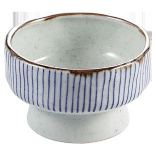 日式高腳碗餐具甜品碗創意個性潮流家用糖水碗火鍋碗CP情侶燕窩碗