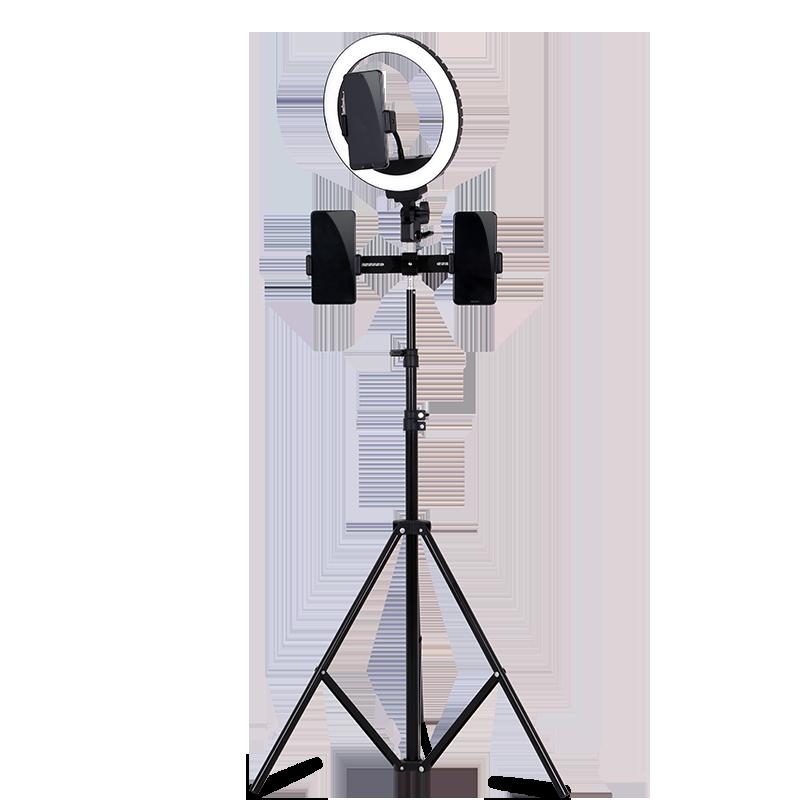 手机直播支架补光灯拍照三脚架相机桌面迷你便携通用户外小型设备