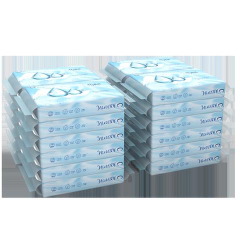 竹印良品婴儿柔纸巾新生婴幼儿童面巾乳霜纸宝宝专用超柔抽纸24包