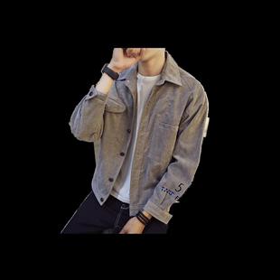秋季男士牛仔外套加絨加厚韓版潮流棒球衣服休閒百搭寬鬆春秋夾克