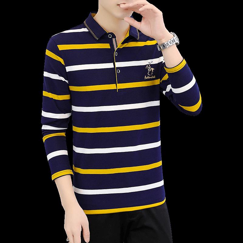 【BLL】秋季男士纯棉休闲Polo衫长袖