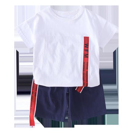 童装男童套装夏装2019新款儿童短袖