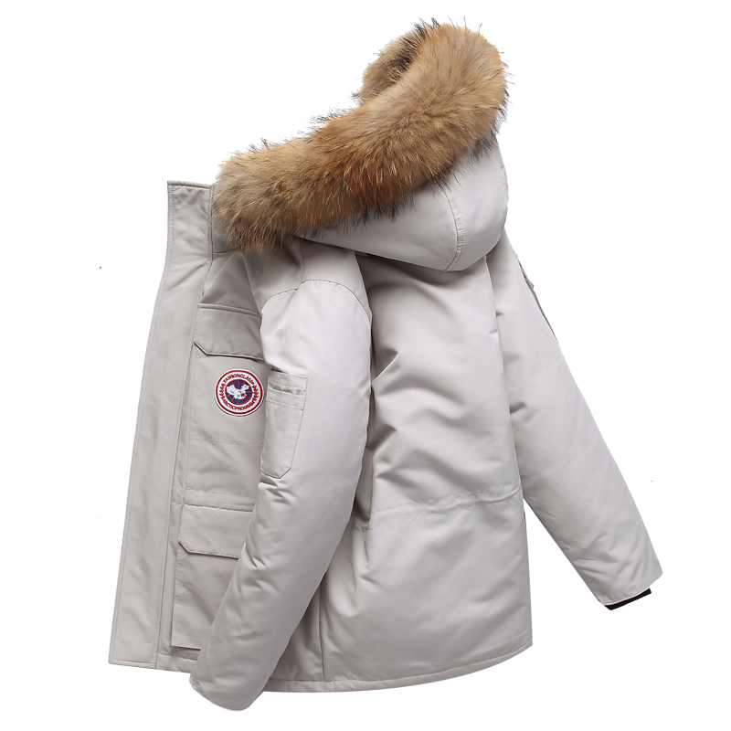 反季羽绒服男冬季短款韩版加厚
