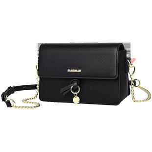包包2020新款潮黑色斜挎包百搭秋冬季鏈條單肩小方包時尚中年女包