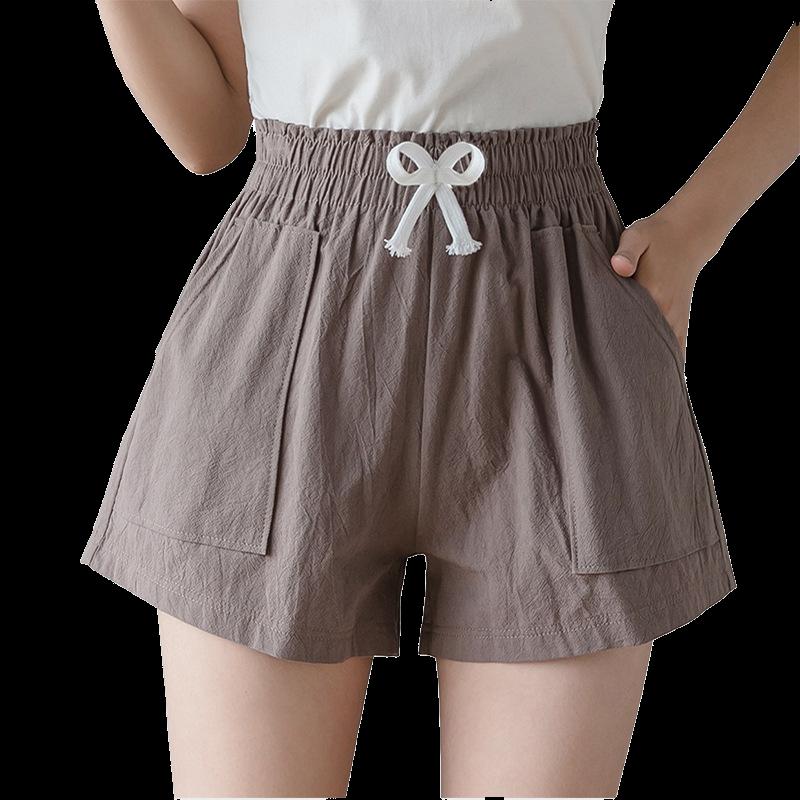 运动超短裤女夏宽松2020新款高腰外穿