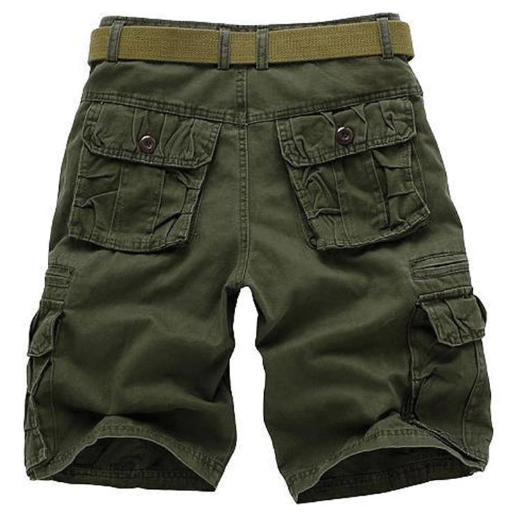 多兜七分宽松多口袋马裤拉链口袋五分裤休闲工装短裤男多包中裤薄
