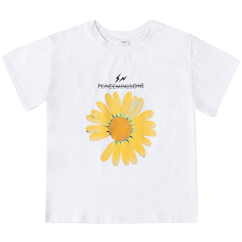 女童夏装小雏菊纯棉短袖T恤夏季韩版洋气儿童装中大童宽松上衣潮