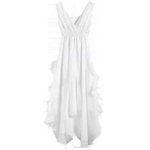 沙灘裙2020新款海邊度假雪紡夏季泰國女裝海灘波西米亞長裙連衣裙