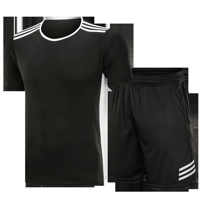 運動套裝男夏季跑步服健身房速干休閑短袖寬松兩件夏天籃球運動衣