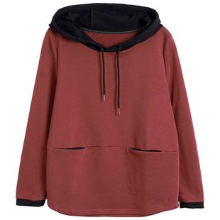 中年纯棉卫衣2021新款女长袖妈妈款洋气秋装宽松大码宽松显瘦上衣