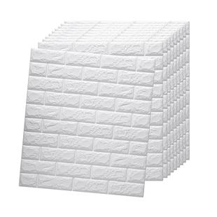 3d立體牆貼防水防潮牆紙自粘背景牆泡沫磚紋壁紙客廳卧室裝飾貼紙