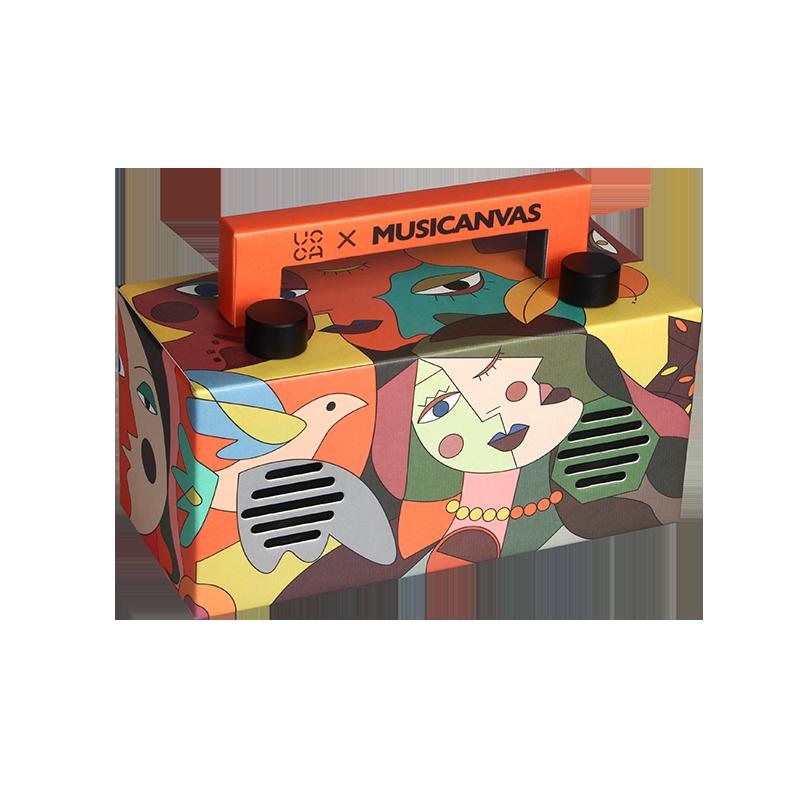 音乐画布mini毕加索文创蓝牙音箱低音炮户外家用纸盒抽象艺术音响