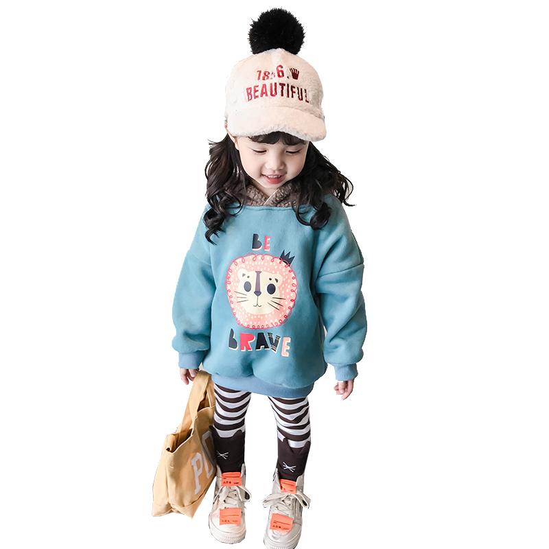 女宝宝秋季两件套2020儿童秋冬新款加绒1一3岁2小童4洋气女童套装