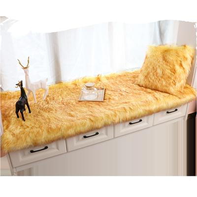 定做长毛绒地毯卧室ins风仿羊毛飘窗垫白色拍照装饰橱窗毛毛毯子