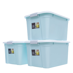 Three sets of super large capacity household storage boxes