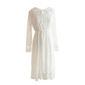 领【5元券】购买2021年春季新款收腰显瘦气质连衣裙
