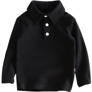 秋冬新款翻领衬衫男童纯棉打底衫