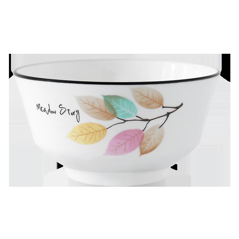 偶鸣日式餐具组合碗碟套装家用小碗吃饭碗陶瓷碗单个碗筷个性面碗