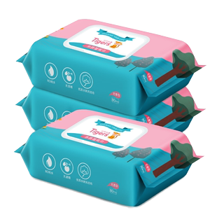 六只小虎宝宝手口专用3包湿纸巾