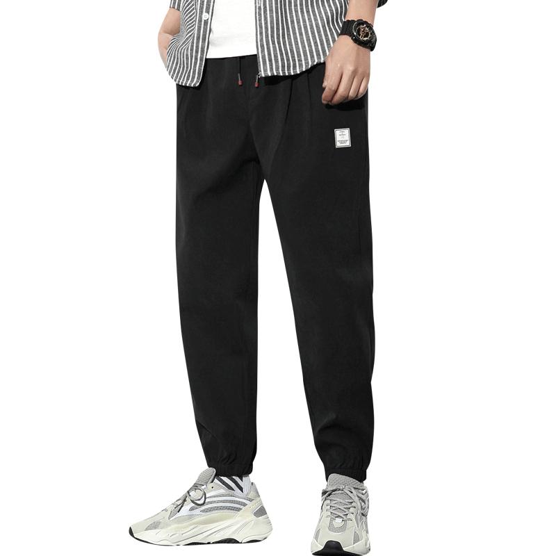 新款男士夏季薄款九分哈伦裤休闲裤