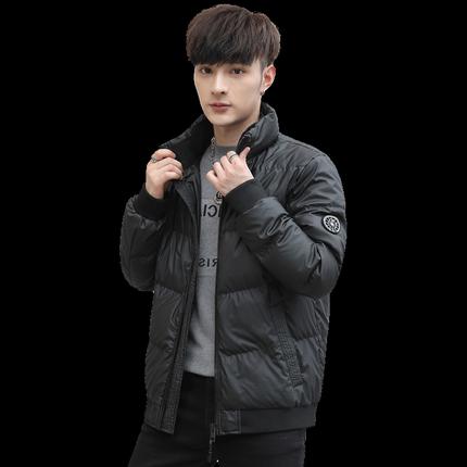 雅鹿男冬季短款立领青年韩版羽绒服