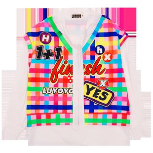 白格子襯衫女設計感小眾2020年春季時尚洋氣質復古港味冷淡風上衣