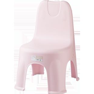 茶花兒童小椅子靠背家用矮款加厚塑料凳小凳子防滑幼兒板凳靠背椅