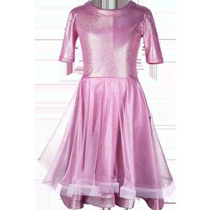 拉丁舞表演服装儿童女专业连衣裙