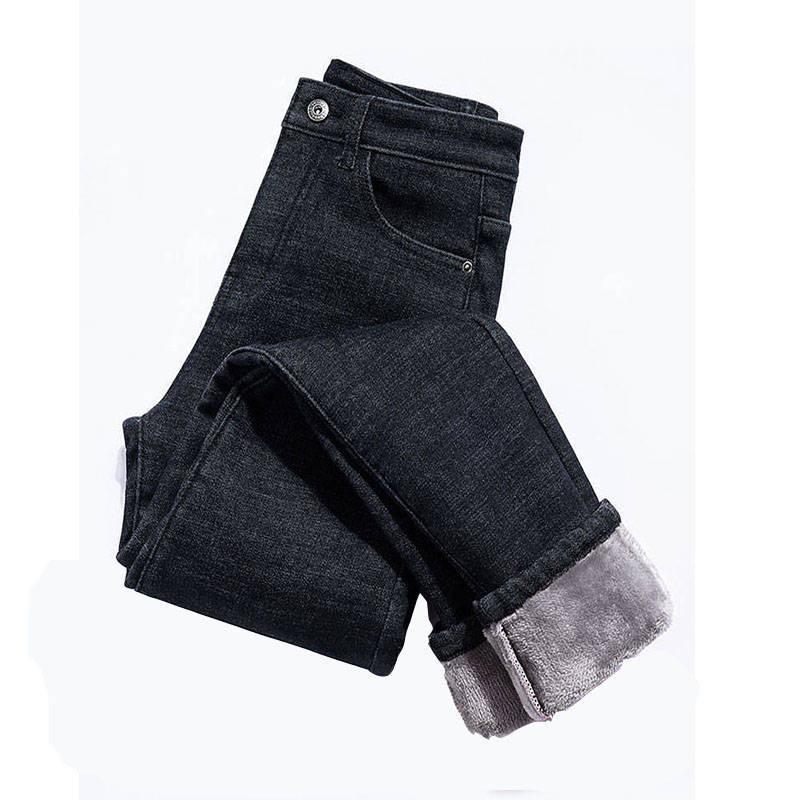 牛仔裤女冬季加绒加厚棉裤紧身显瘦女学生小脚裤子韩版弹力女