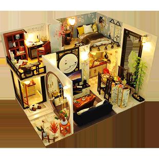 巧之匠立體3d木質diy拼圖模型迷你手工製作益智成年減壓拼裝模型