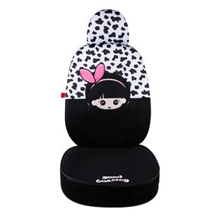 汽車座套夏季卡通可愛女神款冰絲透氣網紅全包圍座椅四季通用坐墊