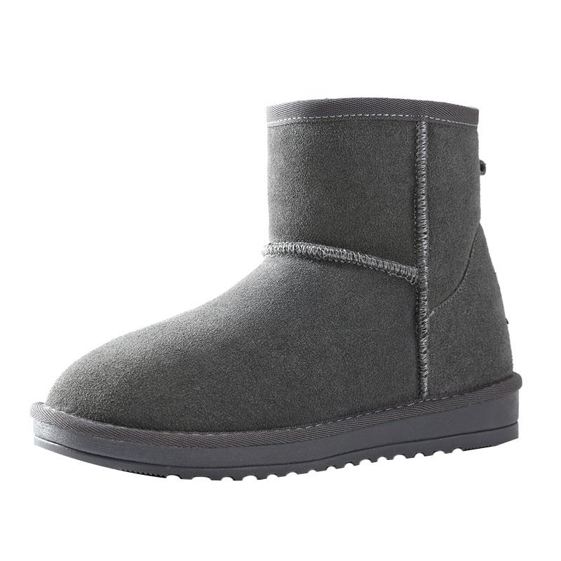 内增高雪地靴女短筒2021新款时尚短靴保暖棉鞋子冬加绒加厚面包鞋