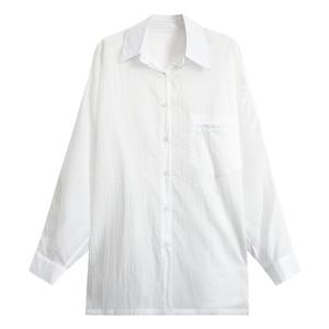a7seven防晒女春长袖韩版白色衬衫