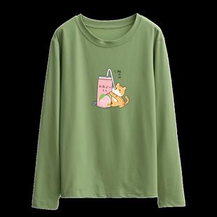 16春秋裝長袖T恤女12-15歲打底衫13初中學生上衣服14小女孩大童17
