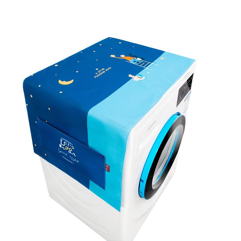 微波炉盖布巾棉麻布艺洗衣机冰箱套罩防油防尘防水美的格兰仕通用