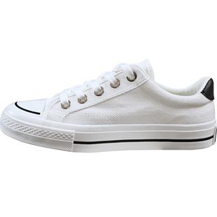 人本帆布鞋女生平底百搭休閒春季球鞋新款韓版潮流學生小白鞋子