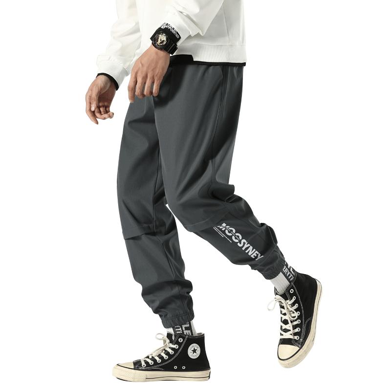 男士裤子运动裤秋冬款韩版潮流百搭工装宽松束脚加绒冬季休闲长裤