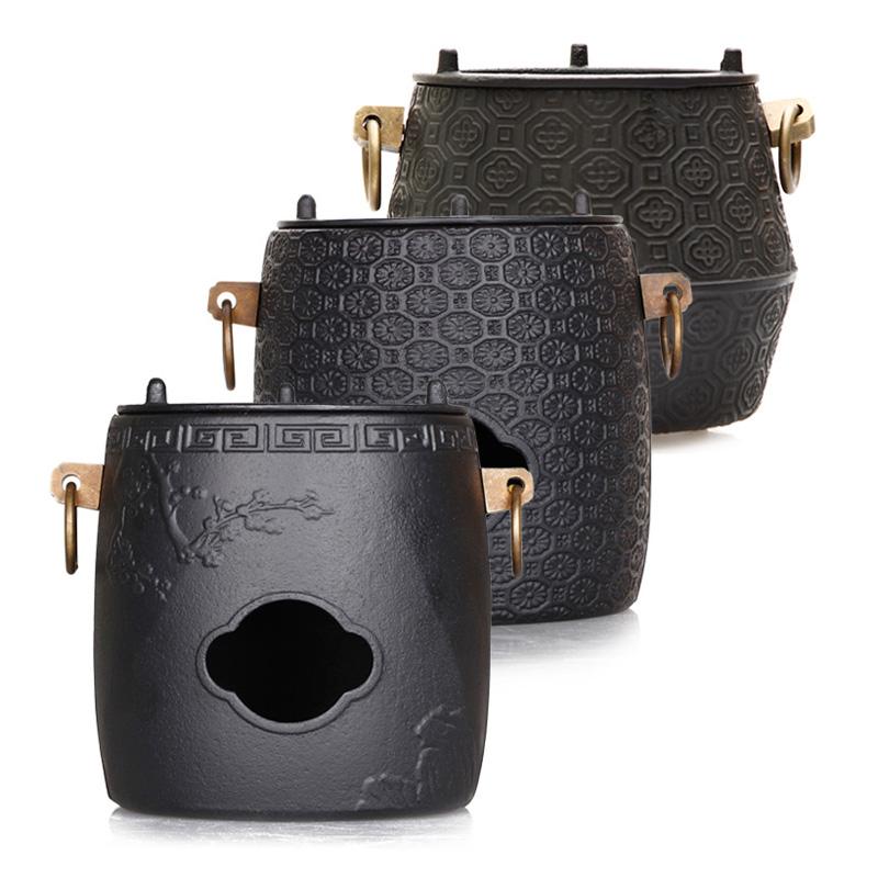 。鋳鉄の炭のストーブの日本式の鉄の壺の風のストーブの茶道は水の鉄のストーブの復古を煮て茶炉を温めてお茶の手仕事のお茶を煮ます