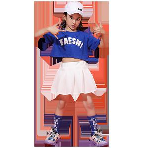 儿童女爵士舞女童潮装嘻哈男演出服