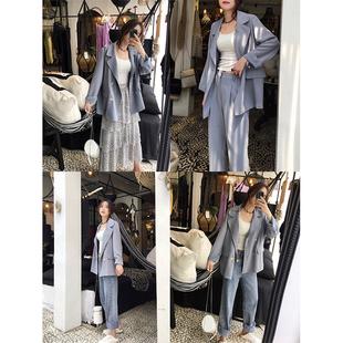 張貝貝ibell網紅小西裝2020新款韓版氣質薄款寬鬆休閒西服外套女